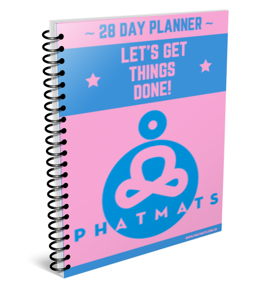 Daily Fitness Planner - Pink/Blue