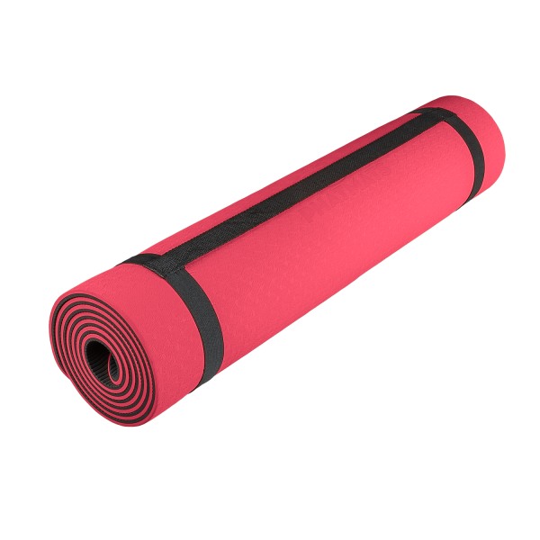red yoga mat