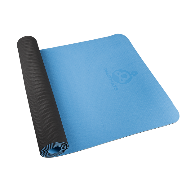 blue exercise mat