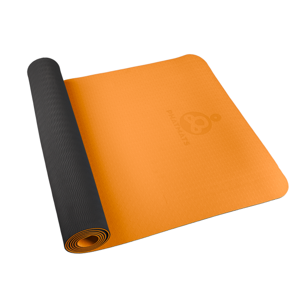 orange exercise mat