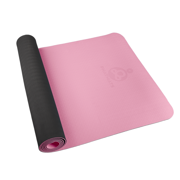 pink exercise mat