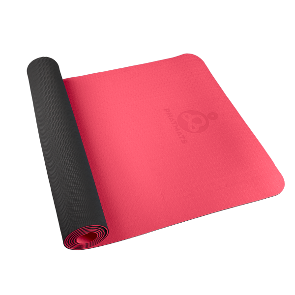 red exercise mat