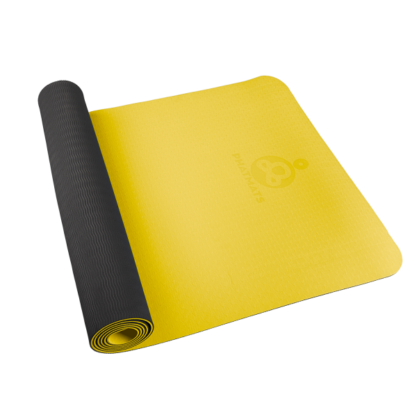 yellow exercise mat