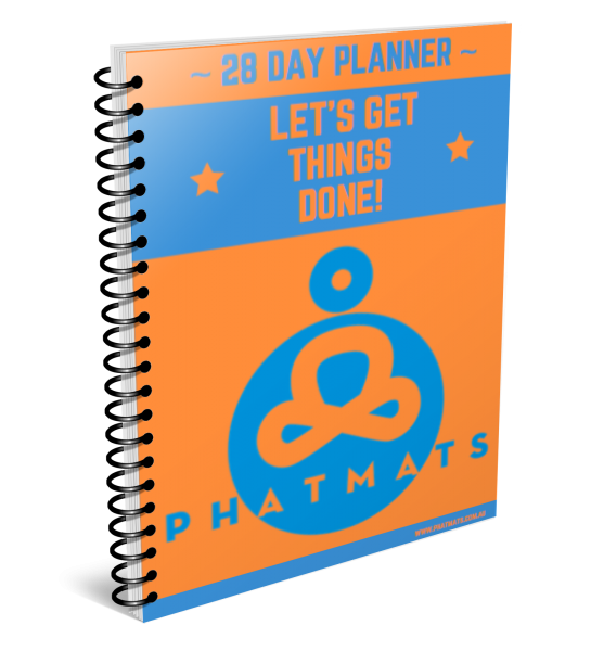 Daily Fitness Planner - Orange/Blue